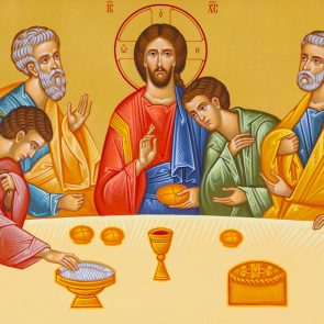 Vranov, Slovakia. 2019/8/22. Icon of the Last Supper. Chapel of